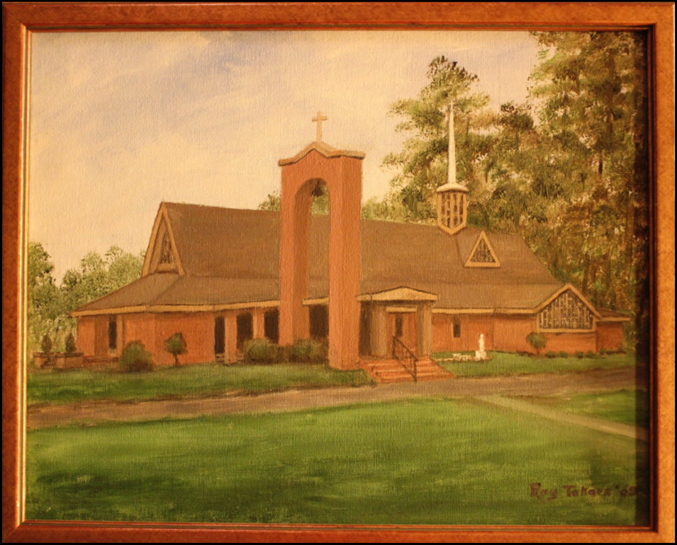 Parishioner Ray Tokarz painted this rendition of Our Lady of the Blessed Sacrament Catholic Church